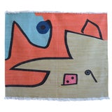 Image of Paul Klee - Silence of the Angel - Inspired Silk Hand Woven Area - Wall Rug 4′7″ × 5′7″ For Sale