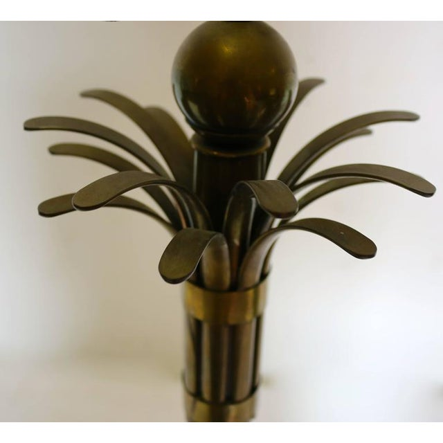 Brass Mid-Century Brass Palm Tree Lamp For Sale - Image 7 of 10