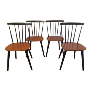 1960s Vintage Farstrup Spindle Back Dining Chairs- Set of 4 For Sale