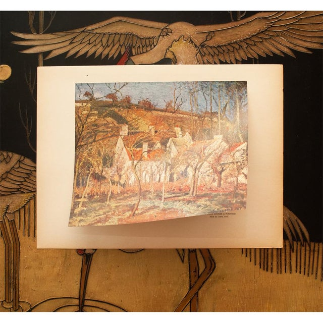 "Camille Pissarro 1930s Camille Pissarro, Rare Original ""The Red Roofs in Pontoise"" Lithograph For Sale - Image 4 of 9"
