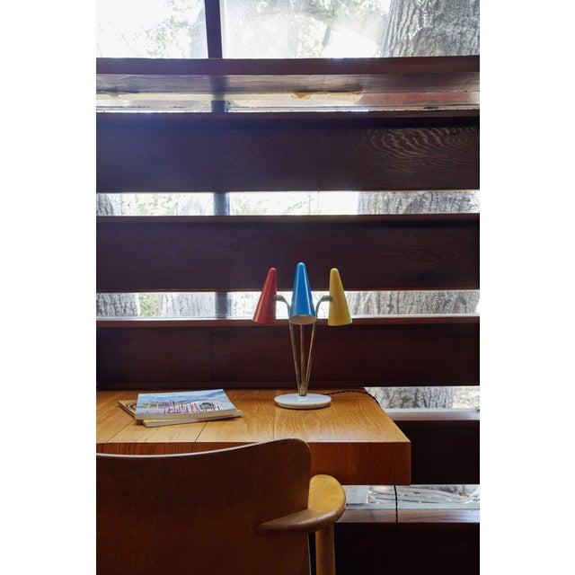 Arteluce Rare 1950s Arteluce Tricolore Table Lamp For Sale - Image 4 of 12