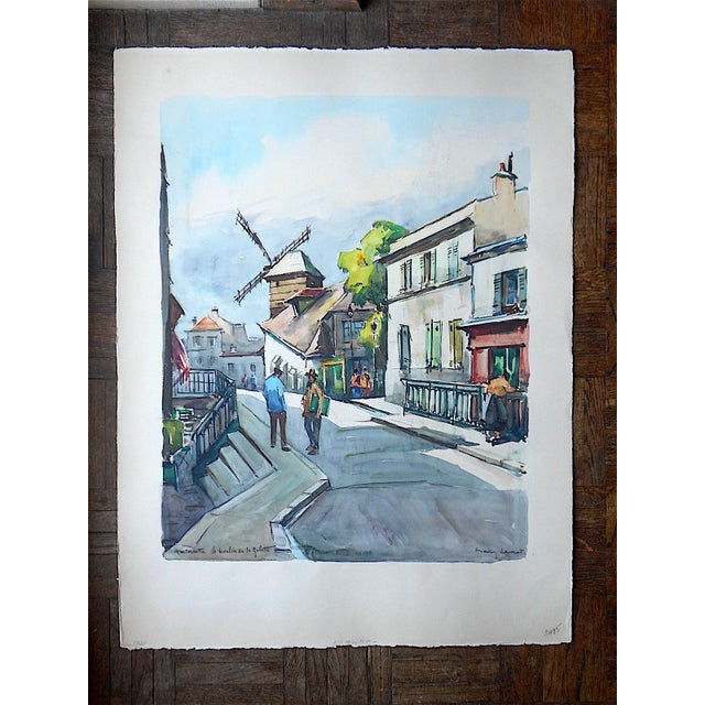 Original Vintage Painting, Montmartre in Paris - Image 2 of 3