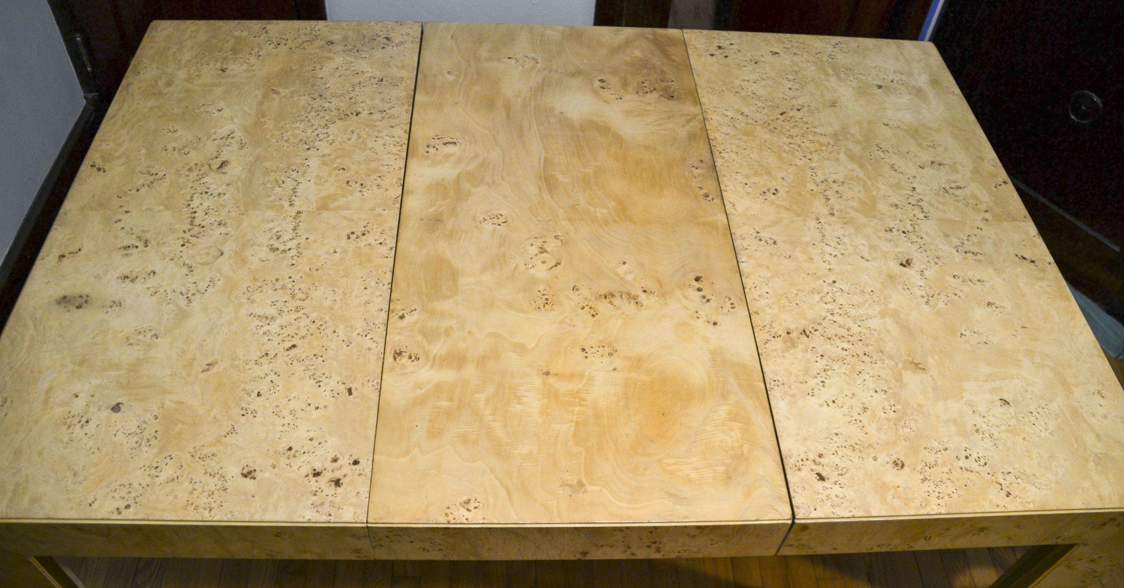 Thomasville Burl Wood Parsons Expandable Dining Table   Image 5 Of 7