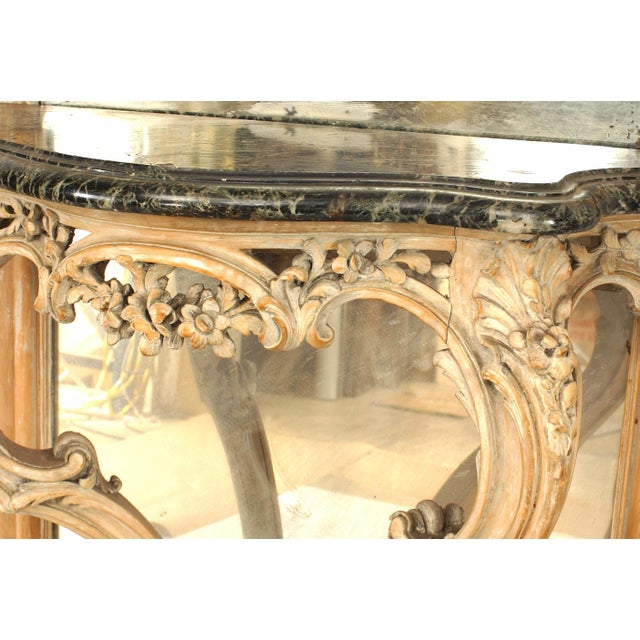 Mid 19th Century French Louis XV Style '19th Century' Console Table and Mirror For Sale - Image 5 of 9
