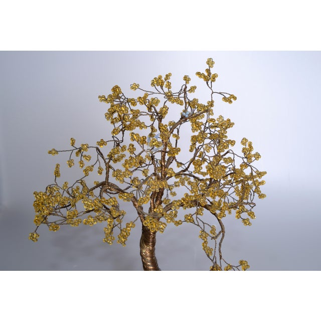 Mid-Century Modern Handcrafted Tree Metal Sculpture Beads For Sale - Image 3 of 9