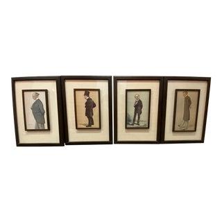 Antique Spy Lithograph Prints Framed - Set of 4 For Sale