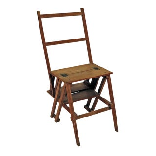 Arts & Crafts Metamorphic Oak Chair For Sale