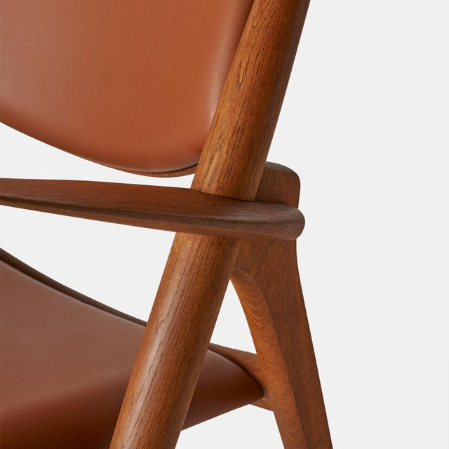 Wood Pair of Sawbuck Chairs, Model Ch-28 by Hans Wegner For Sale - Image 7 of 8