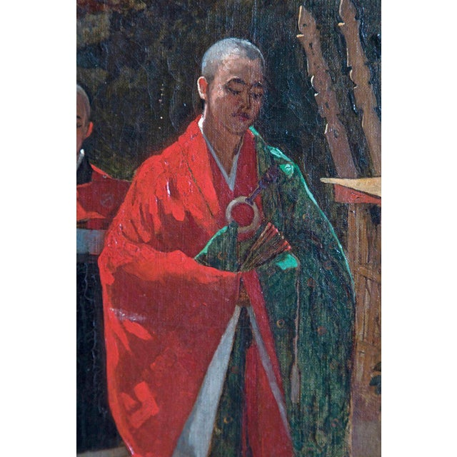 Late 19th Century Francis Neydhart Oil on Canvas Japanese Monks in a Landscape For Sale In Dallas - Image 6 of 13