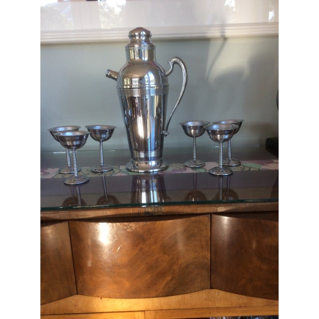 Chrome Plated Stainless Steel 1950's Cocktail Set - Image 2 of 9