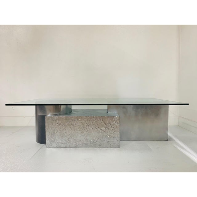 Mid-Century Modern Three-Piece Geometrical Coffee Table For Sale - Image 3 of 8