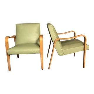 Vintage Mid Century Thonet Lounge Chairs- a Pair For Sale