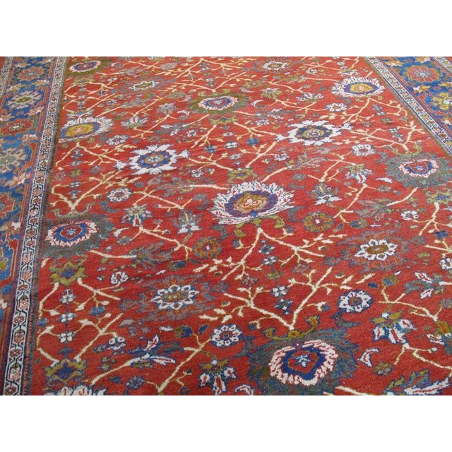 Late 19th Century Fantastic Antique Sultanabad Carpet For Sale - Image 5 of 10