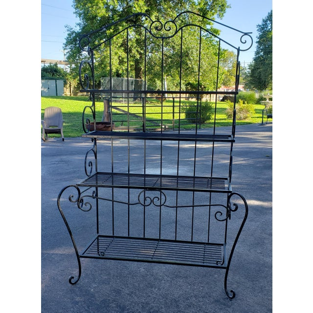 Gorgeous Heavy Extra Large Black Wrought Iron Bakers Rack.. It breaks my heart to sell this piece. We have had this for...