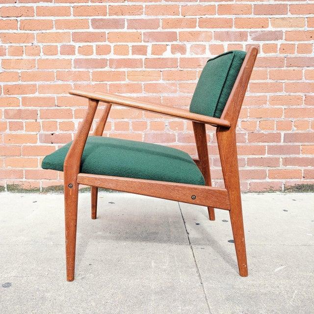 Mid 20th Century Vintage Mid Century Danish Modern Teak Lounge Chair For Sale - Image 5 of 11