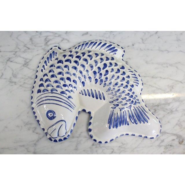 Mid 20th Century Decorative Ceramic Fish Mold/Platter For Sale - Image 5 of 5