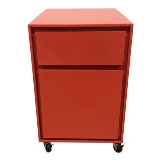 Crate & Barrel Pilsen Paprika File Cabinet For Sale