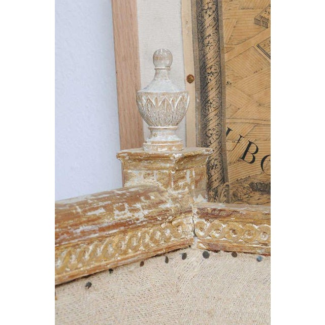 Early Gustavian Bench With Beautiful Carved Decoration All Around. For Sale - Image 10 of 11