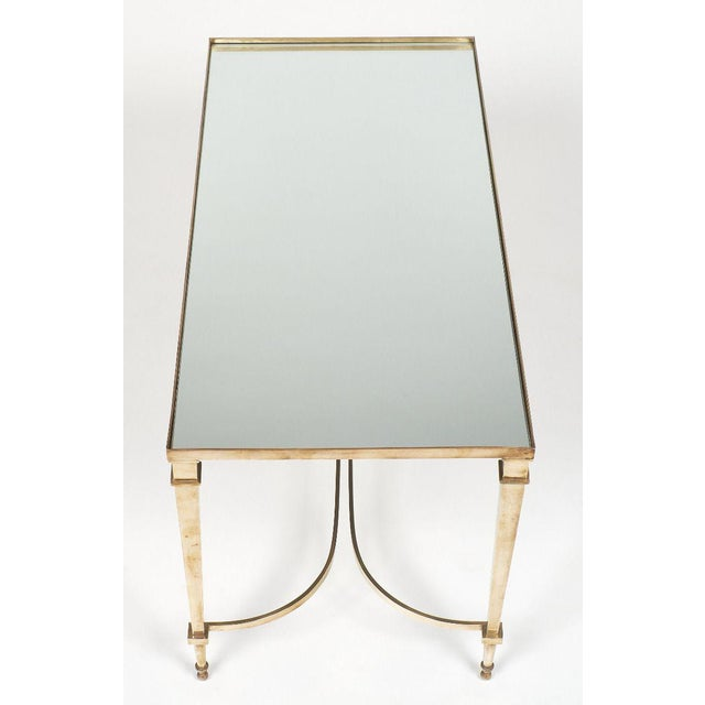 Gold Art Deco Brass and Mirror Coffee Table For Sale - Image 8 of 11
