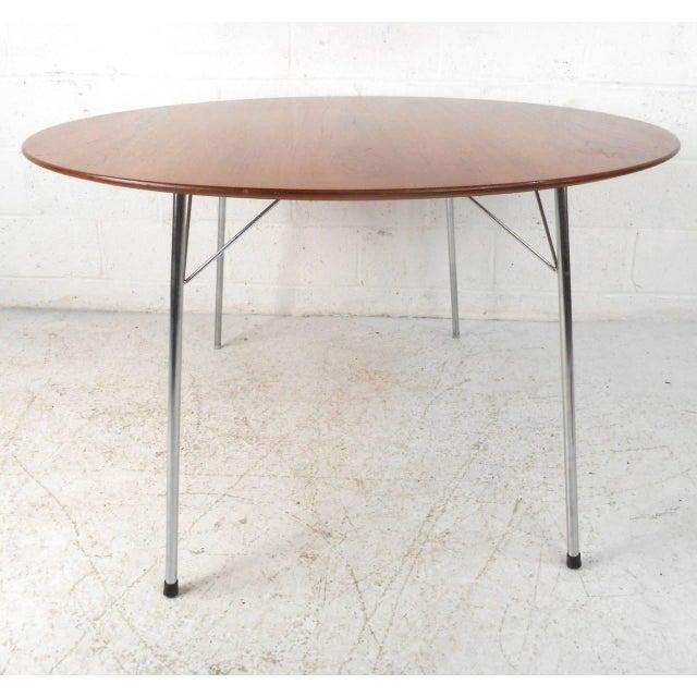 Mid-century Modern Teak Dining Table by Arne Jacobsen for Fritz Hansen - Image 5 of 7