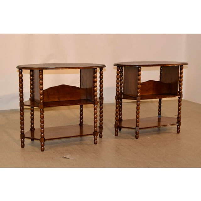 Victorian Late 19th C Pair of English Side Tables For Sale - Image 3 of 7
