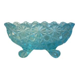 Vintage Blue Glass Bowl For Sale