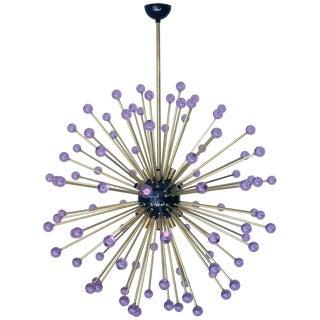 Purple Burst Sputnik Chandelier by Fabio Ltd For Sale