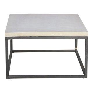 Sleek Concrete Slab Metal Table For Sale