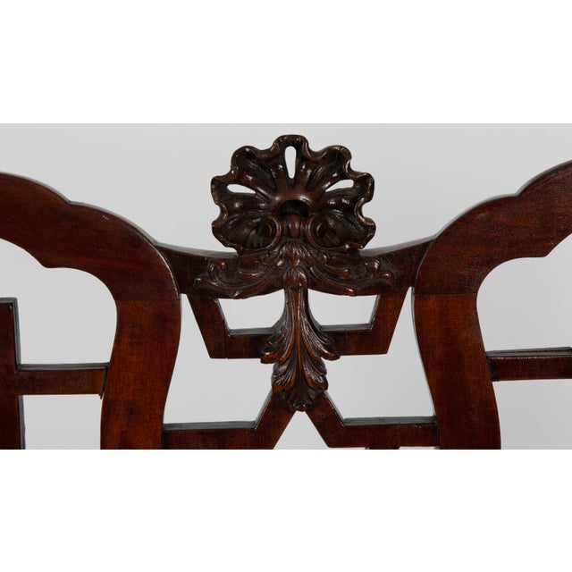 Asian English Chinese Chippendale Mahogany Settee For Sale - Image 3 of 9