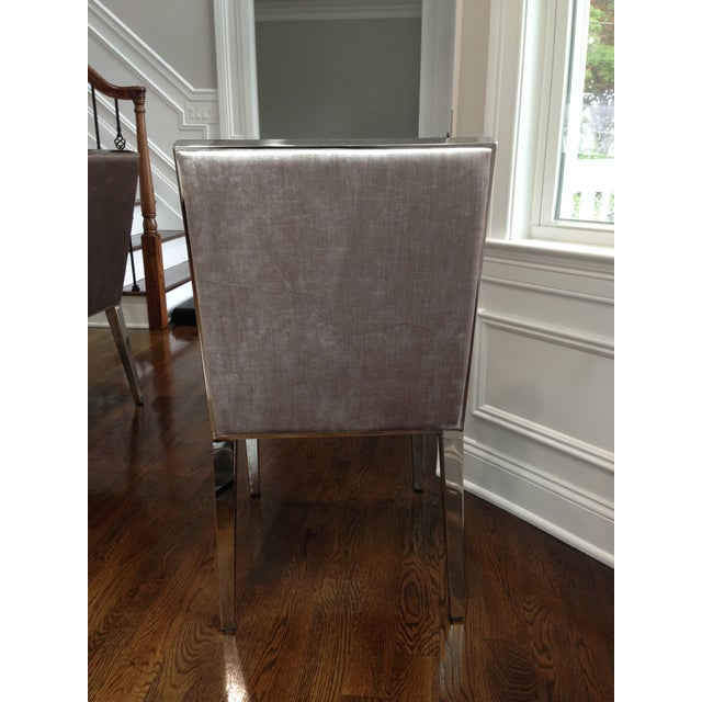 Modern Velvet Dining Chairs - Set of 6 For Sale - Image 5 of 5
