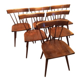 Paul McCobb Planner Group Spindle Back Dining Chairs - Set of 6