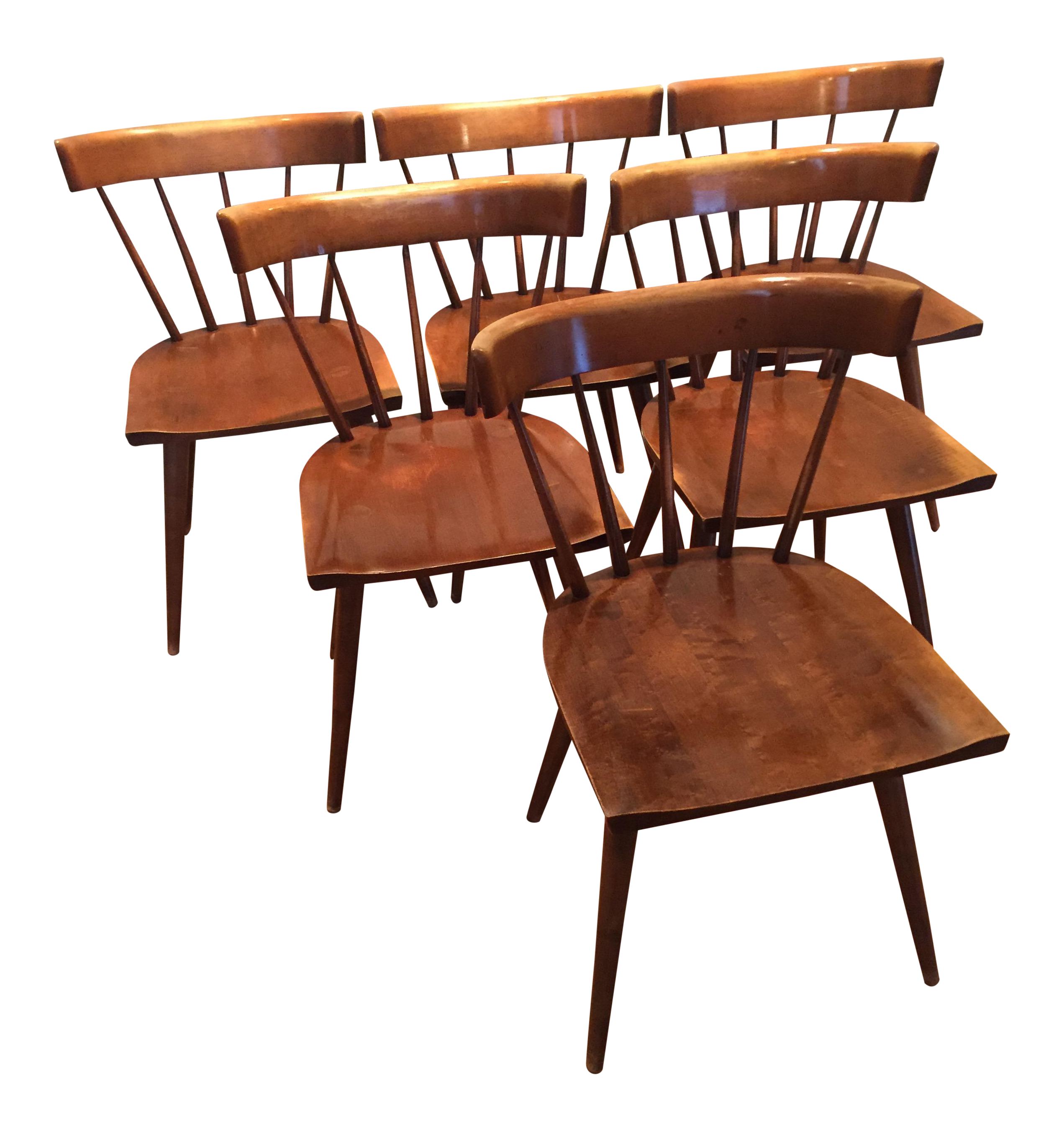 Paul McCobb Planner Group Spindle Back Dining Chairs   Set Of 6   Image 1 Of