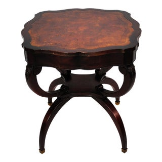 Vintage French Mahogany Side Table For Sale
