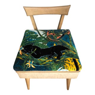 Mid Century Vintage Sewing Chair For Sale
