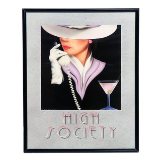 1980s High Society Lithograph Print by Mal Watson For Sale