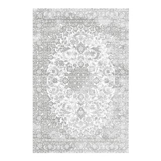 DISTRESSED MEDALLION RUG LIGHT GRAY 5'3''x 7'7''