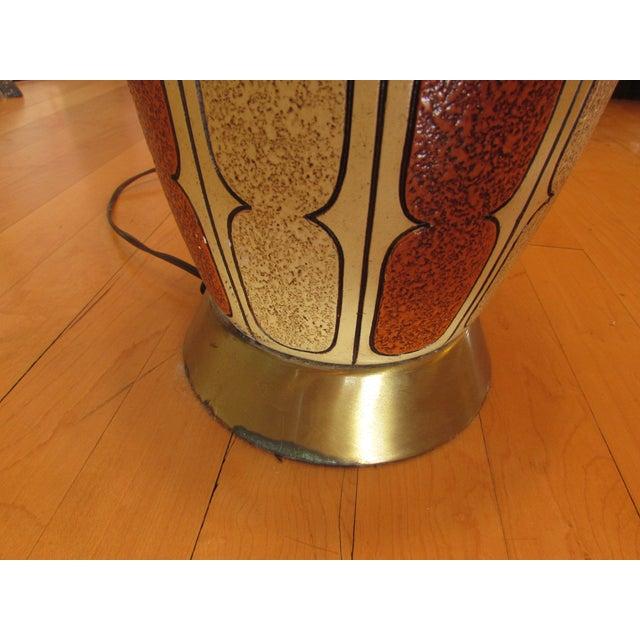 Mid-Century Ceramic Lamp - Image 4 of 8