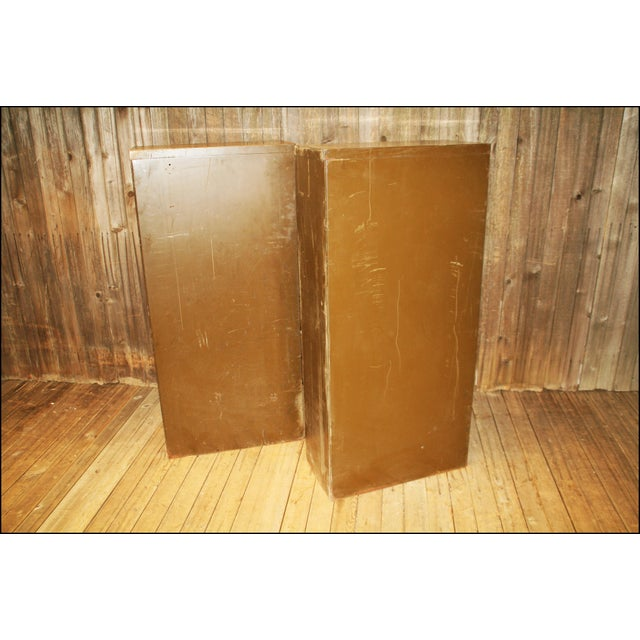 Vintage Industrial Metal Filing Cabinets - Pair - Image 7 of 11