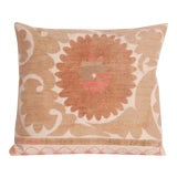 Image of Vintage Embroidered Tashkent Accent Pillow For Sale