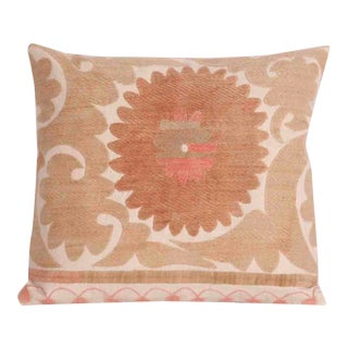 Vintage Embroidered Tashkent Accent Pillow For Sale