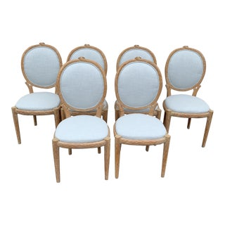 Vintage Faux Bois Chairs - Set of 6 For Sale