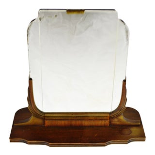 Art Deco Table Top Vanity Shaving Mirror For Sale