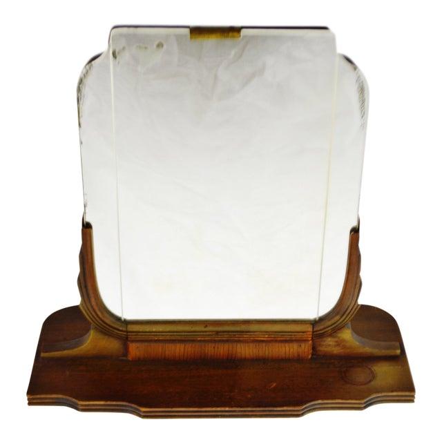 Art Deco Table Top Vanity Shaving Mirror For Sale
