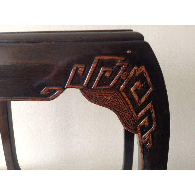Asian Mother of Pearl & Abalone Inlay Side Table - Image 10 of 11
