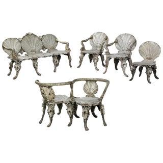 19th Century Rare Italian Grotto Furniture in Wood For Sale