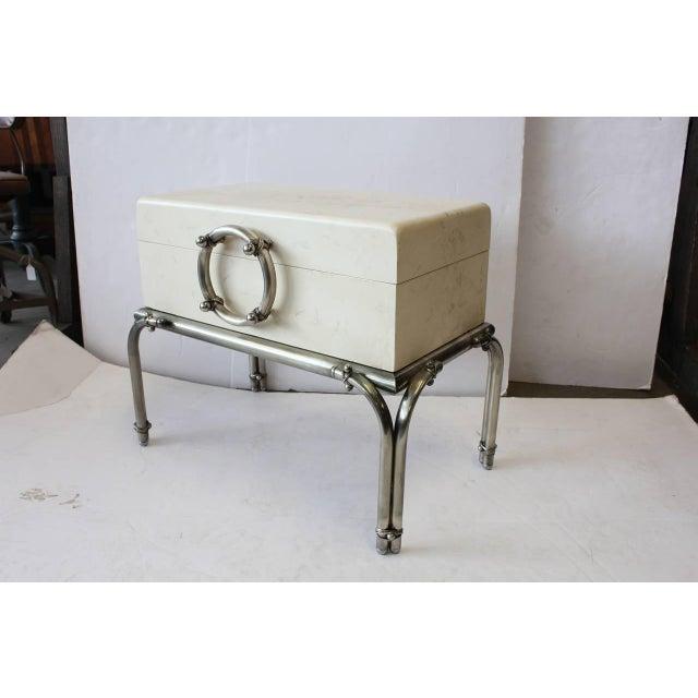 Stylish Modern Wood Box On Metal Stand