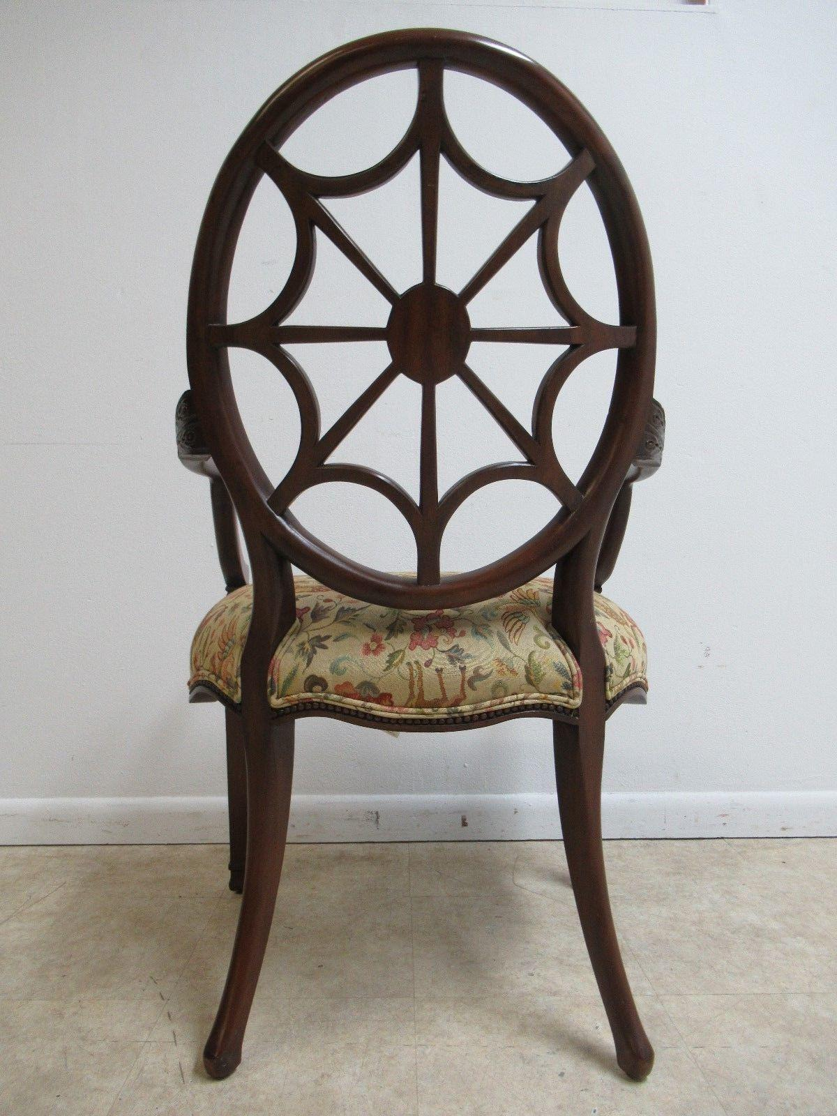 Ethan Allen Townhouse Spider Back Side Chair   Image 9 Of 11