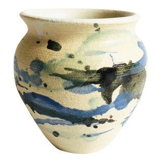 Vintage Abstract Pottery Planter For Sale