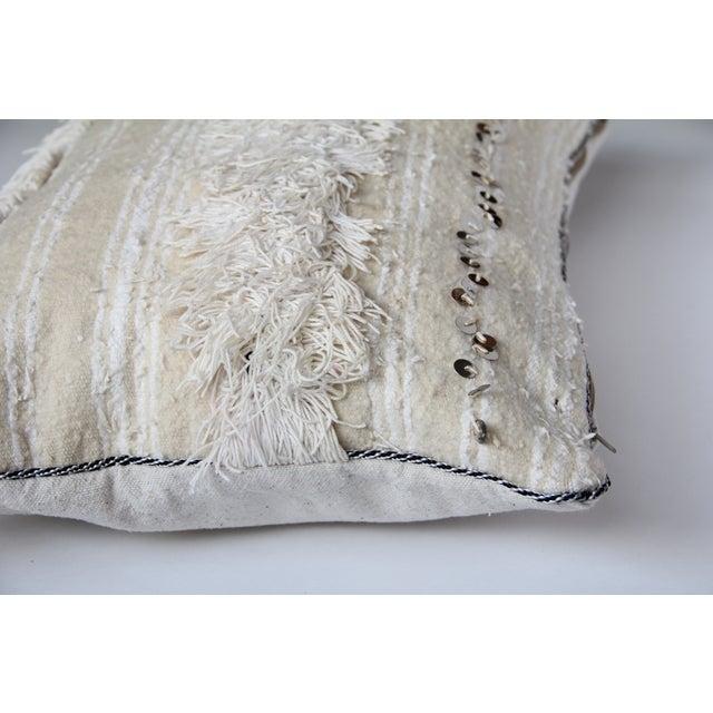 Vintage Moroccan Wedding Handira Pillow - Image 3 of 5