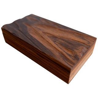 Robert Trout Wood Jewelry Box With Liner, 1965 For Sale